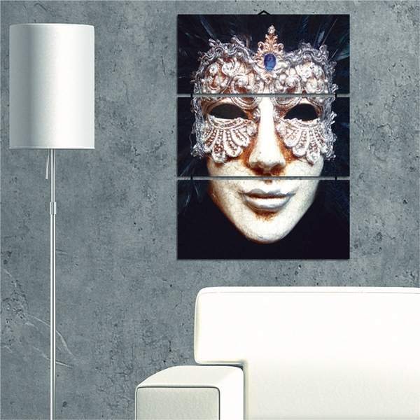 Mask Decorative MDF Painting (3 Pieces)