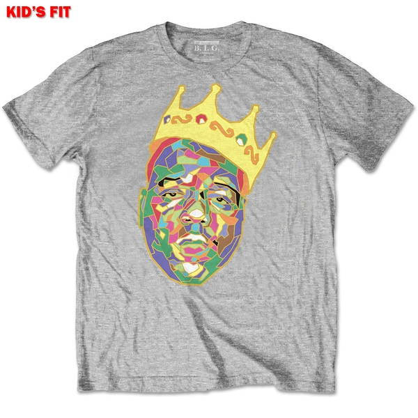 Biggie Smalls - Crown Kids 3 - 4 Years T-Shirt - Grey