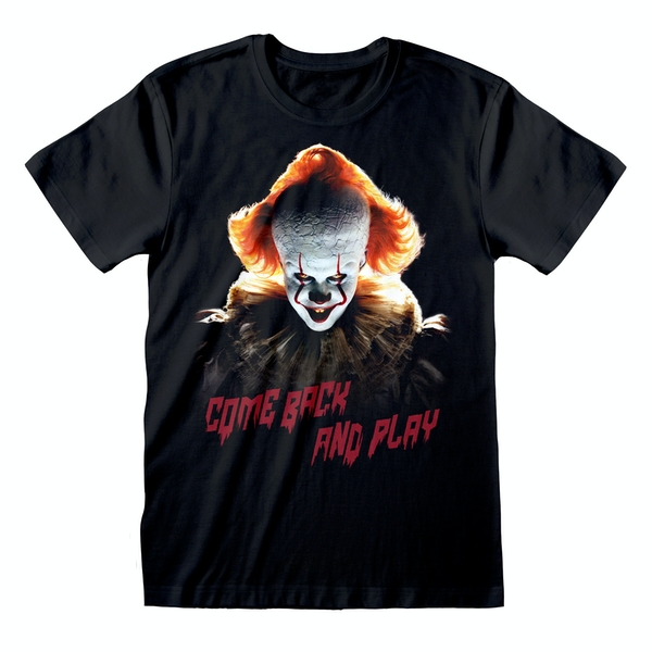 Image of IT Chapter 2 - Come Back And Play Unisex Small T-Shirt - Black