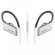 Panasonic RPBTS50EW Wireless Waterproof Sports Bluetooth Earphones with Blue LED White