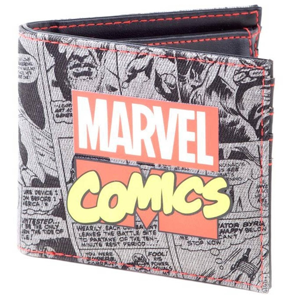 Marvel Comics - Retro Classic Comic Book All-over Print Bi-fold Wallet (Multi-colour)