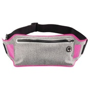 """Hama """"Running"""" Sports Hip Pouch for Smartphones, grey/pink"""