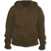 Metall Streetwear Full Zip Women's X-Large Hoodie - Brown