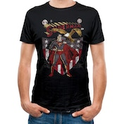 Superman - Shield And Eagle Men's Large T-Shirt - Black