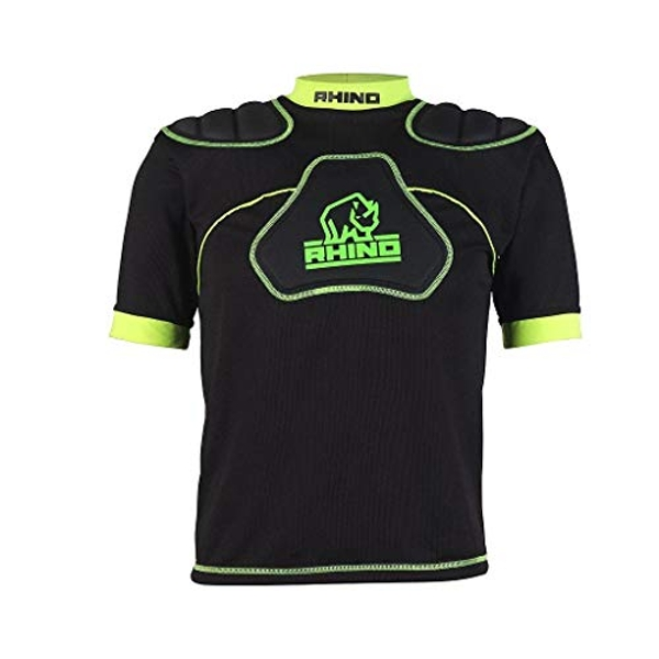 Rhino Senator Protection Top Junior Large Boys Black/Green