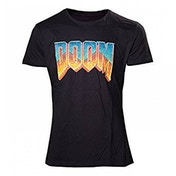 DOOM Men's Classic Vintage Logo Medium T-Shirt
