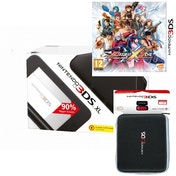 Black Nintendo 3DS XL Console Bundle with Project X Zone and 3DS XL Carry Case