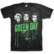 Green Day Drips Mens Black T Shirt Large