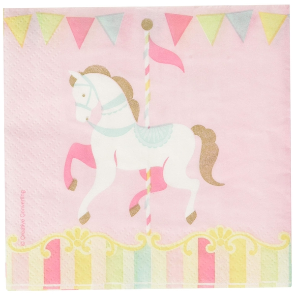 Carousel Baby Shower Napkins