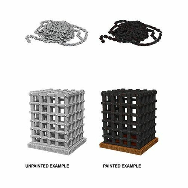 Pathfinder Deep Cuts Unpainted Miniatures - Cage & Chains