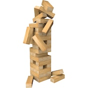 Classic Wood Tumbling Even Tower