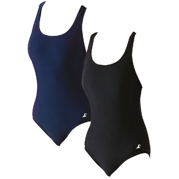 SwimTech Splashback Black Swimsuit Adult - 34 Inch