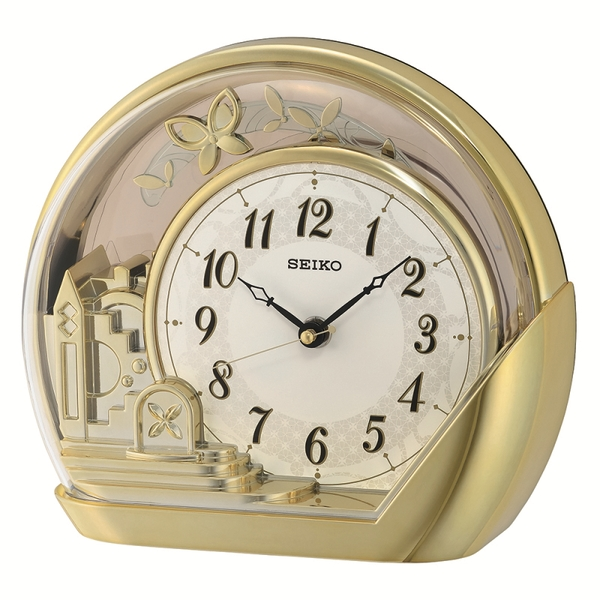 Seiko QXN232G Mantel Clock - Gold