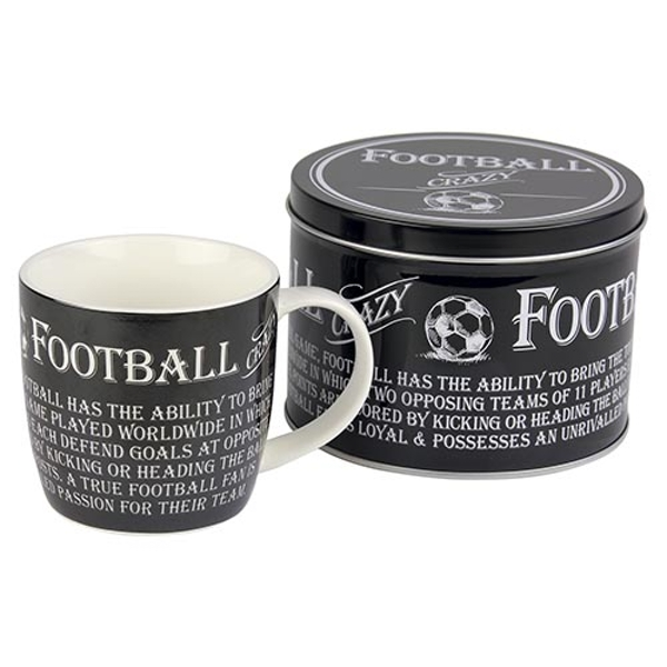 Ultimate Gift for Man Mug in a Tin Football