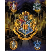 Harry Potter House Crests Mini Poster