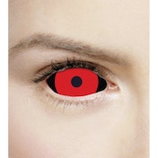 Hellish Black & Red 1 Year Sclera Coloured Contact Lenses (MesmerEyez Xtreme)