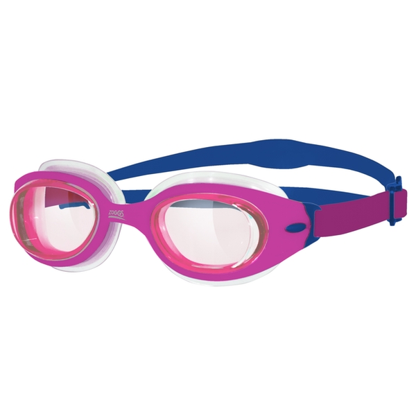 Zoggs Junior Sonic Air Goggles Pink/Purple/Clear Junior