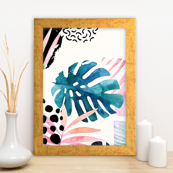AC6912761745 Multicolor Decorative Framed MDF Painting