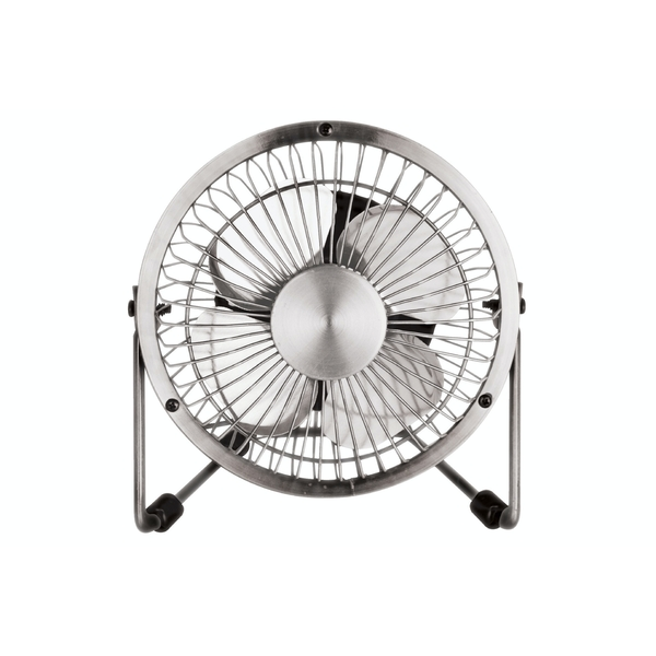 "Status 4"" Mini USB Powered Desk Fan - Chrome Finish"