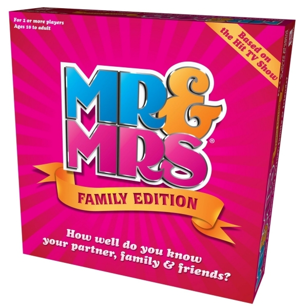 Mr & Mrs Family Edition Board Game