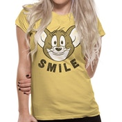 Tom And Jerry - Smile Men's Small T-shirt - Yellow