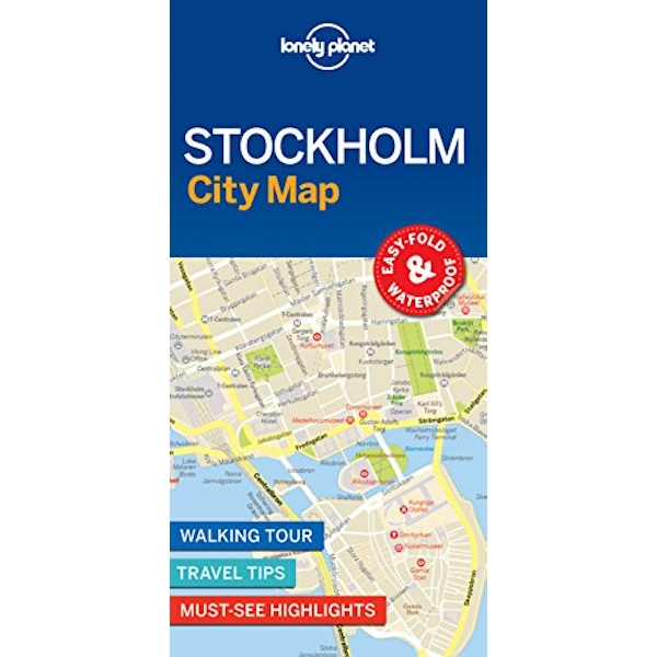 Lonely Planet Stockholm City Map  Sheet map, folded 2018