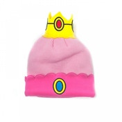 Nintendo Super Mario Bros. Princess Peach Crown Cuffed Beanie - Pink