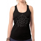Supernatural - Text Symbol Women's Medium T-Shirt - Black