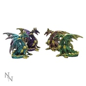 Precious Wings (Set Of 4) Dragon Figures