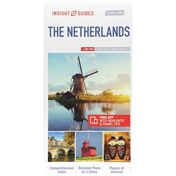 Insight Guides Travel Map Netherlands  Sheet map 2018