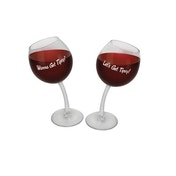 Tipsy Wine Glasses Set Of Two