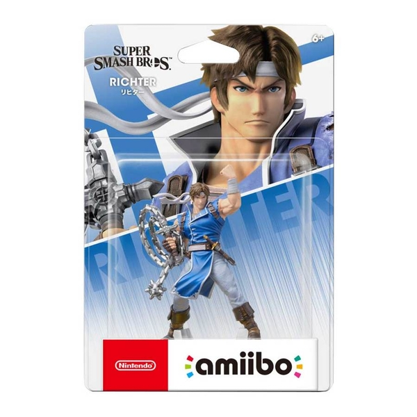 Richter Belmont Amiibo No 82 (Super Smash Bros Ultimate) for Nintendo Switch & 3DS
