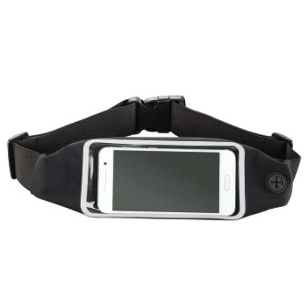 """Hama """"Running"""" Sports Hip Pouch for Smartphones, with Viewing Window, black"""