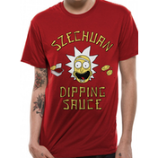 Rick And Morty - Szechuan Sauce Men's Large T-Shirt - Red
