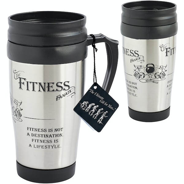 Ultimate Gift for Man Travel Mug Fitness Fanatic