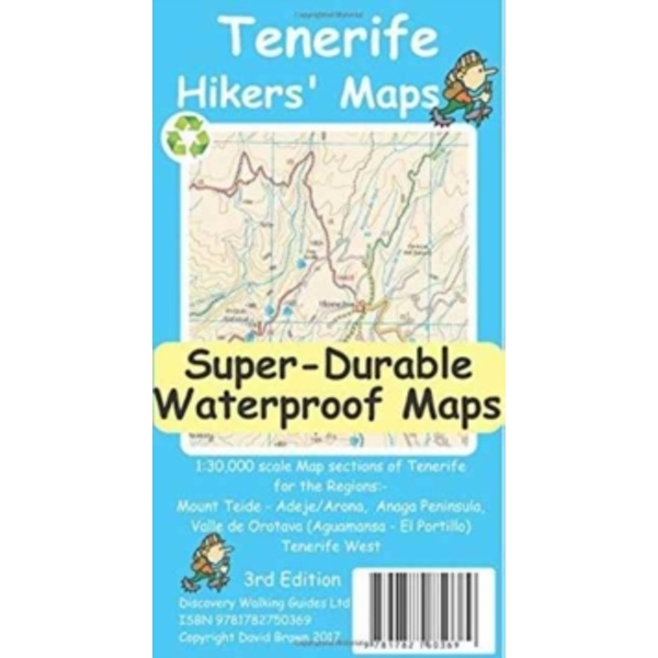 Tenerife Hikers Maps by David Brawn (Sheet map, folded, 2016)