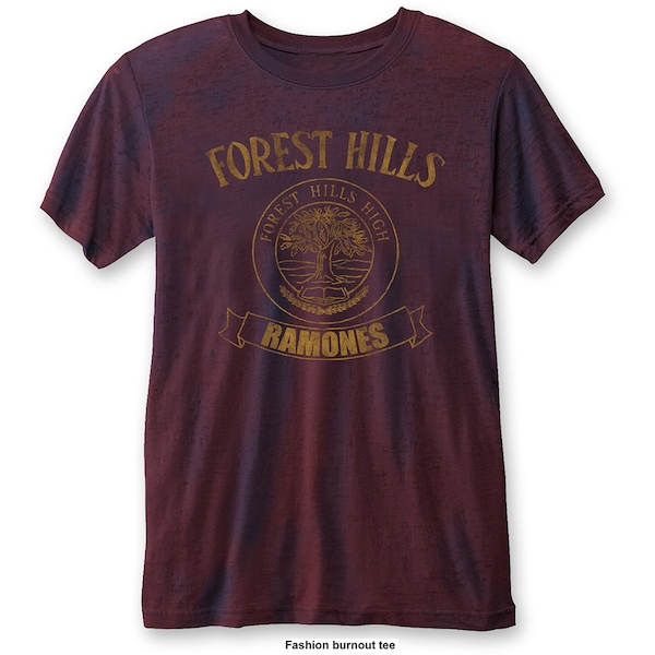 Ramones - Forest Hills Unisex Large T-Shirt - Blue,Red