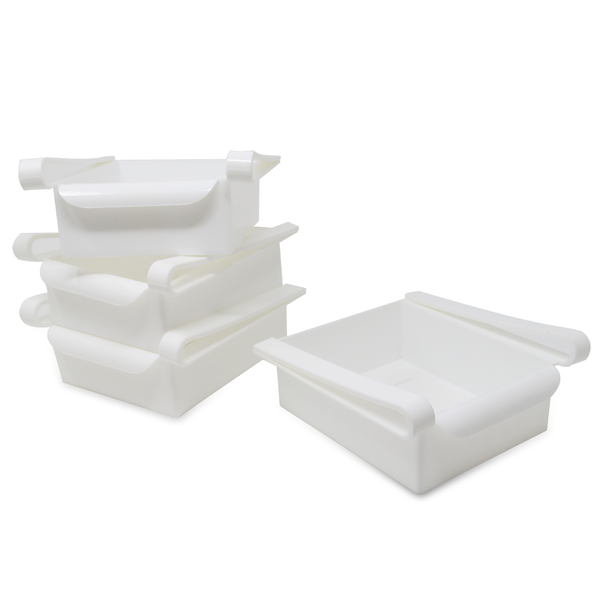 Pack of 4 Fridge Storage Drawers | M&W - Image 1