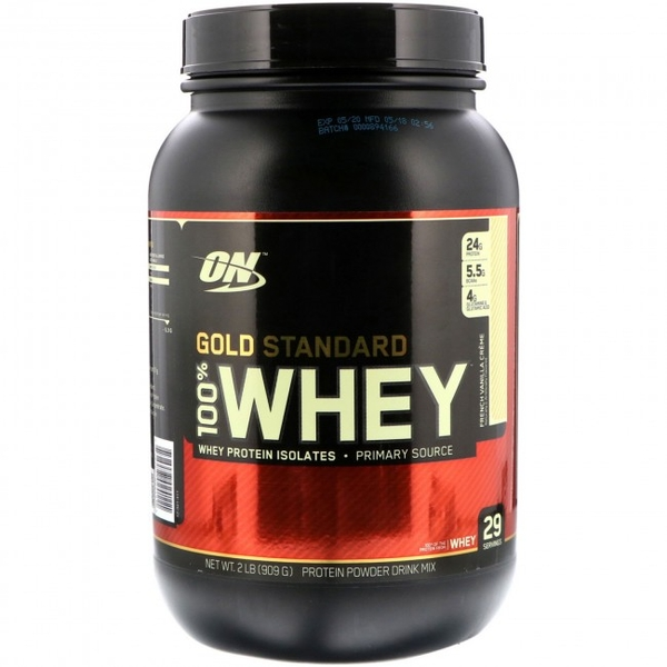 Optimum Nutrition Gold Standard (French Vanilla) 100% Whey 908g Protein Powder