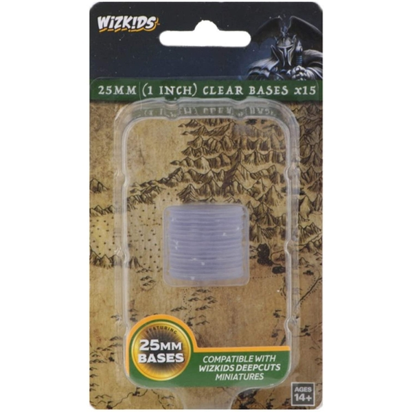 Wizkids Deep Cuts: 25mm Round Base - Clear (15)