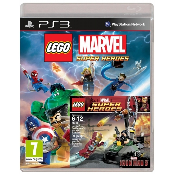 Lego Marvel Super Heroes with Iron Man vs Mandarin Toy Game PS3