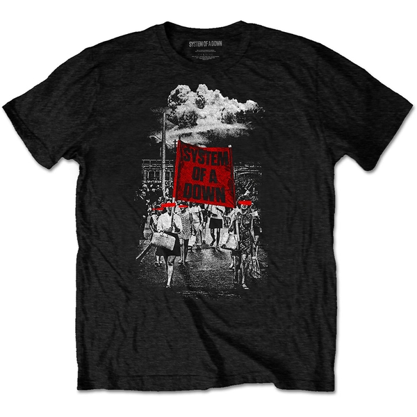 System Of A Down - Banner Marches Unisex Small T-Shirt - Black