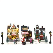 Christmas Village Scene Ornaments with LEDs