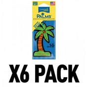 (6 Pack) California Scents Palms Hang-Outs Newport New Car Car/Home Air Freshener