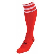 PT 3 Stripe Pro Football Socks Mens Red/White