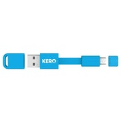 Kero Nomad Micro USB to USB 2.0 Key Ring Cable - Blue