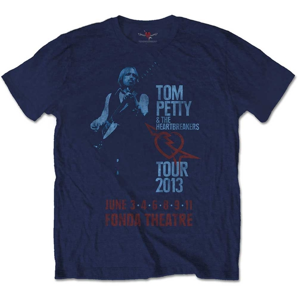 Tom Petty & The Heartbreakers - Fonda Theatre Unisex Small T-Shirt - Blue