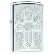 Zippo Harley Davidson Cross High Polish Chrome Regular Lighter