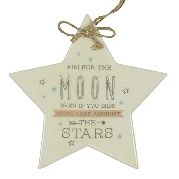 Love Life Star Plaque - Aim For The Moon