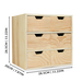 Mini Wooden Chest of 6 Drawers | Pukkr - Image 4